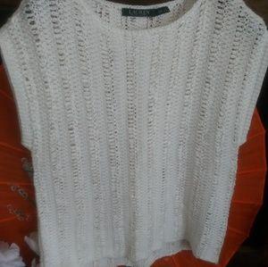 Lauren By Ralph Lauren White Knit Top
